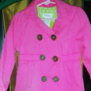 Pink Double Breasted 4T rain coat
